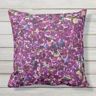 Sichere rosa Paillette im Freien Kissen