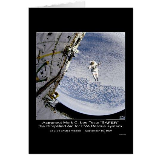 """SICHERERER"" Shuttle STS-64 Grußkarte"