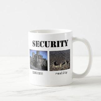 Sicherheit - Theorie und Wirklichkeit Kaffeetasse