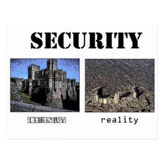 Sicherheit - Theorie und Wirklichkeit Postkarte
