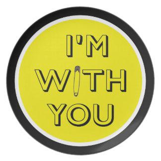 Sicherheits-Button - ich bin mit Ihnen Essteller