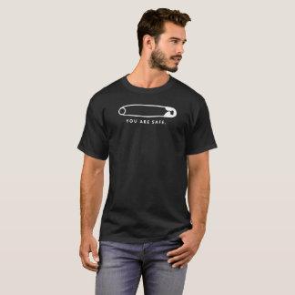 Sicherheits-Button - Sie sind sicher. (Dunkelheit) T-Shirt
