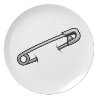 Sicherheits-Buttonsolidarität Melaminteller