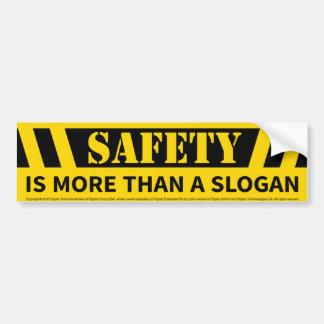 Sicherheits-Mitteilung Autoaufkleber