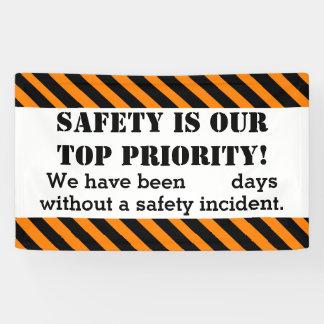 Sicherheits-Zeichen-Tagesohne Zwischenfälle/Unfall Banner