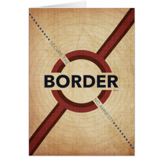 Sichern Sie die Grenze Karte