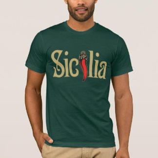 Sicilia T - Shirt, dunkles Kleid