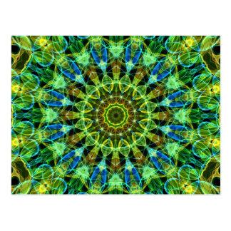 Sie aufpassen Kaleidoskop Postkarte