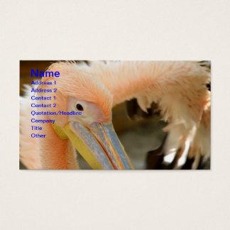 Sie aufpassen Pelikan-Visitenkarte Visitenkarte