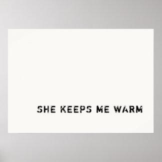 sie behält mich warm poster
