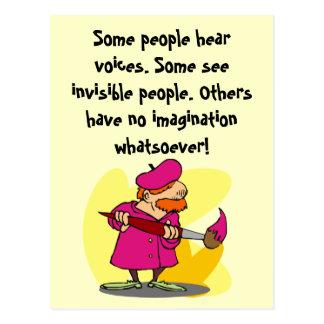Sie benötigen Fantasie und Kreativität! Postkarte