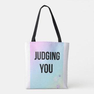Sie beurteilen Slogan-weiße Käufer-Taschen-Tasche Tasche