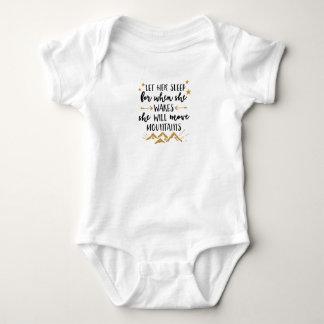 Sie bewegt Gebirgsbaby-Jersey-Bodysuit Baby Strampler