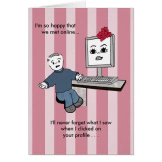 Sie erhellen herauf meinen Schirm! - Valentinsgruß Karte