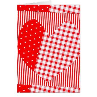 Sie füllen mein Herz mit Freudekariertem Valentine Karte