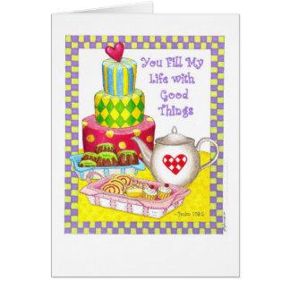 Sie füllen mich kundengerechte Geburtstags-Karte Mitteilungskarte