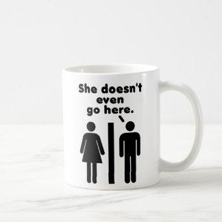 Sie geht nicht einmal hier tasse