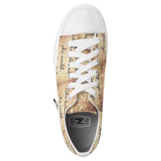 Sie GlaubenGewohnheit Zipz niedrige Spitzenschuhe Niedrig-geschnittene Sneaker