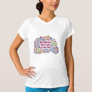 Sie glaubte, dass sie könnte, also sie Tech-Shirt T-Shirt