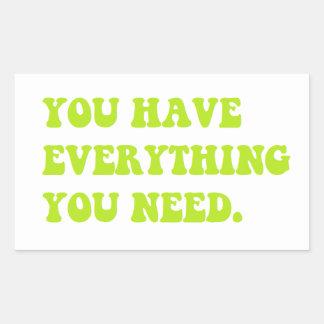Sie haben alles, das Sie Aufkleber benötigen