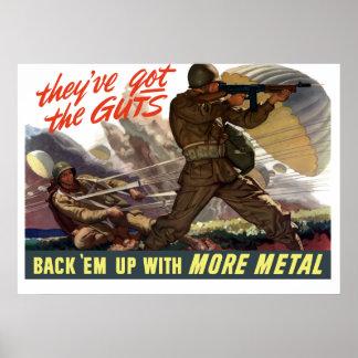 Sie haben die Eingeweide -- WW2 Poster