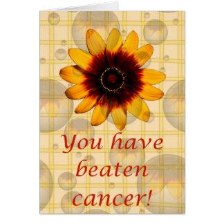 Sie haben Krebs geschlagen! Krebsstützrosaband Karte