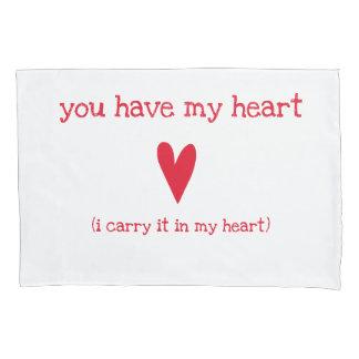 Sie haben mein Herz | Gedicht durch E.E. Cummings Kissen Bezug