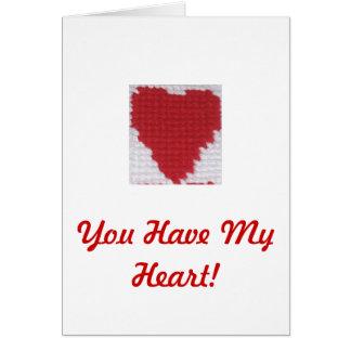 Sie haben mein Herz! Karte