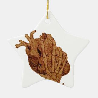 Sie halten mein Herz in Ihren Händen Keramik Stern-Ornament