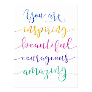 Sie inspirieren schöne mutige Postkarte