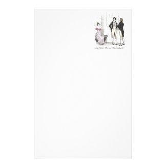 Sie ist erträgliches… Jane Austen P&P CH3 Briefpapier