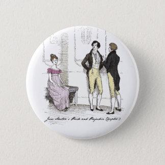 Sie ist erträgliches… Jane Austen P&P CH3 Runder Button 5,1 Cm