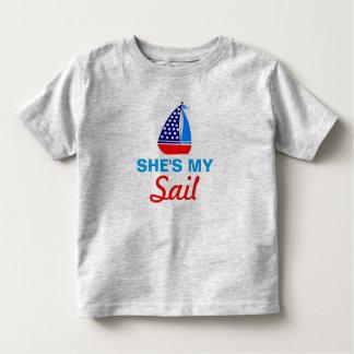 Sie ist mein zusammenpassendes Shirt des Segel-(er