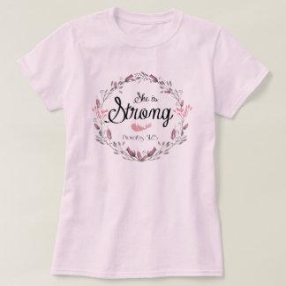 Sie ist starkes Bibel-Vers-Zitat der Sprichwort-31 T-Shirt
