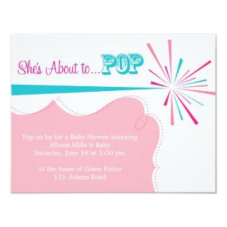 Sie ist ungefähr zur POP Baby-Duschen-Einladung Karte