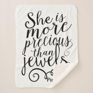 Sie ist wertvoller als Juwel-Sprichwort-3:15 Sherpadecke