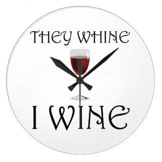 Sie jammern i-Wein Große Wanduhr