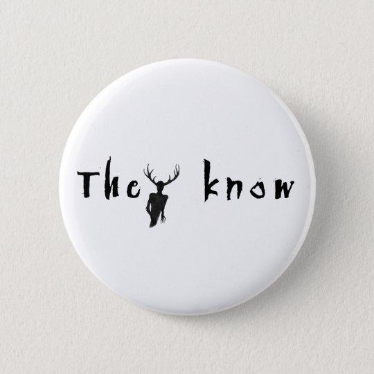 Sie kennen - Knopf Runder Button 5,1 Cm