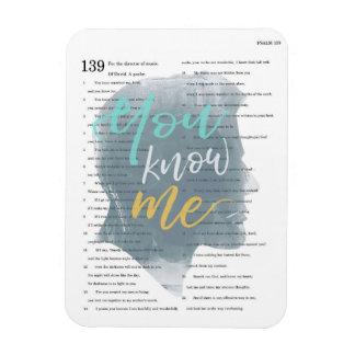 Sie kennen mich, Psalm 139, männliche Silhouette Magnet