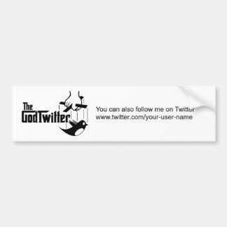 Sie können auch Follow-me auf Twitter…. Autoaufkleber