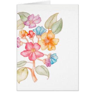 Sie können auf mir Blumenkarte zählen Karte