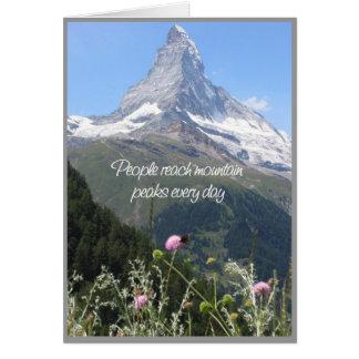 Sie können Ihren Berg klettern - Ermutigungskarte Grußkarte