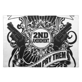 Sie können meine Gewehre nehmen Stofftischset