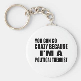 SIE KÖNNEN VERRÜCKT GEHEN ich sind POLITISCHER Standard Runder Schlüsselanhänger