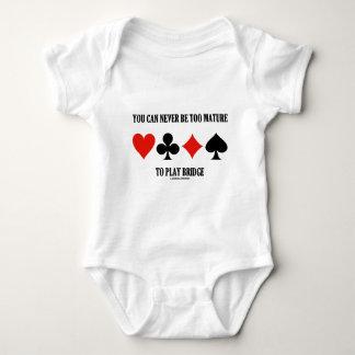 Sie können zu reif nie sein, Brücke zu spielen Baby Strampler