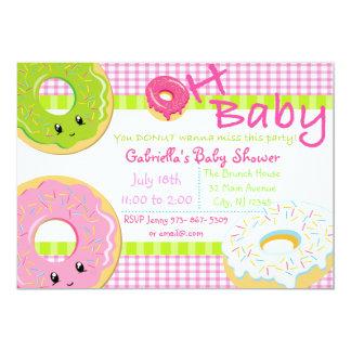 Sie KRAPFEN wollen Baby-Duschen-Karte zur 12,7 X 17,8 Cm Einladungskarte
