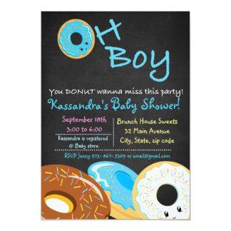 Sie KRAPFEN wollen Baby-Duschen-oh Karte zur 12,7 X 17,8 Cm Einladungskarte