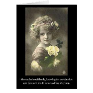 Sie lächelte sicher und wusste für… karte