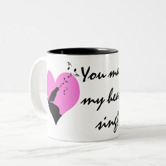 Sie lassen mein Herz Valentinsgruß-Gewohnheit Zweifarbige Tasse