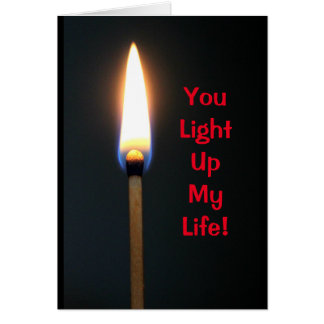 Sie leuchten meinem Leben - Valentinstag Karte